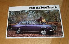 Ford Escort Brochure 1974 - L XL 1300E Sport GT 1.1 1.3 - Saloon & Estate - Mk1