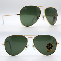 100% Guaranteed Genuine Ray Ban Aviator RB3025 L0205 Sunglasses Green 58mm Lens