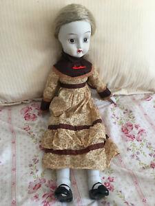 "Vintage Walda  Doll Porcelain Bisque Hand Painted 18"" Doll"