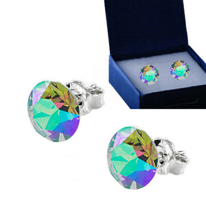 925 Sterling Silver Stud Earrings Paradise Shine Xirius Crystals from Swarovski®