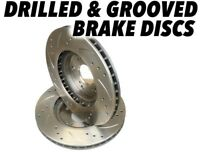 Drilled and Grooved Front Brake Discs For Ford Sierra 1.8 2.0 240mm