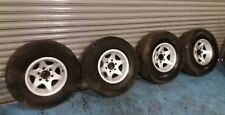 VAUXHALL FRONTERA ISUZU OFF ROAD ALLOY WHEELS WITH TYRES 255/75R15 110S