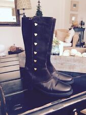 Moschino Love Boots Brown Size 37 Eur Retail $650