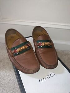 Gucci Bamboo Web Loafers