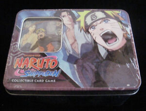Naruto Fierce Ambitions TCG CCG Naruto Vs. Sasuke Tin - 1 Gold Foil - 4 Packs ++