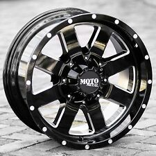 17x10 Black rims MOTO METAL 962 1994-2018 LIFTED DODGE RAM 2500 3500 8x6.5 -24mm