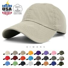 Baseball Cap Cotton Solid Plain men women Ball Hat Dad Hat Polo Washed Ball