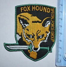 #339 Metal Gear Fox Hound Foxhound Special Force iron /sew on embroidered  Patch