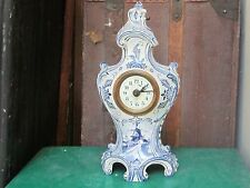 Rare Antique 1850's French/Delft D.H. Depose Brevete Mantle Clock:work/strike