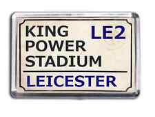 Leicester City Football Fridge Magnet Print Stadium Street Sign King Power