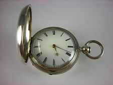 Antique 53mm English Verge Fusee keywind pocket watch. 1855. Lovely Hunter case!