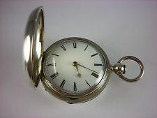 Antique 53mm English Verge Fusee keywind pocket watch. 1855. Lovely Hunter case!