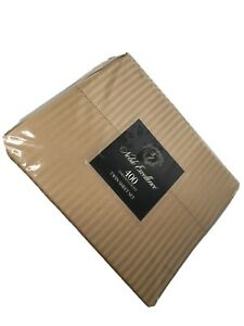 Noble Excellence NEW Sheet Set MELANI 400 Thread Count Sateen Dobby Stripe