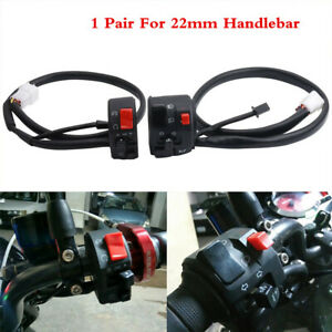 2Pcs 7/8 in 22MM Motorcycle Handlebar Horn Turn Signal Lamp Control Switch Combo
