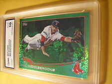 WILL MIDDLEBROOKS RED SOX 2013 TOPPS  EMARALD FOIL # 64 GRADED 10