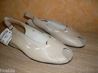 Damenschuh Leonie Sling Sandalette mit Keilabsatz NEU Gr. 37 beige & Nappaleder