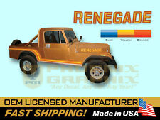 1985 1986 Jeep Scrambler Renegade CJ8 Decals & Stripes Kit