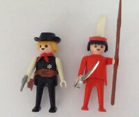 Playmobil Sheriff & Indian Figures. Vintage Playmobil Figure's 1974.