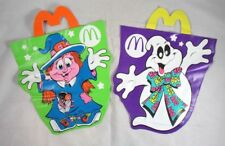 2 McDonalds Restaurant Halloween Trick or Treat Bags Witch Ghost Vintage 1990