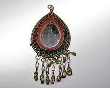 Kuchi Tribal Nomaden Spiegel-Anhänger, Vintage Tribalschmuck,