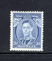 1937 KGVI 3d BLUE - DIE 1a - MvLH - SG168b   (NICELY NEAR CENTRED)