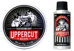 Uppercut Deluxe Featherweight Paste & Sea Salt Spray Mens Hair Styling Products
