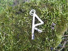 R-RAIDO, Solar chariot, Wheel, Viking Rune pendant Sterling Silver