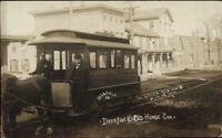 Utica NY Deerfield Old Horse Drawn Street Car c1905 Real Photo Postcard