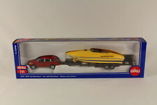 Siku SK2543 Diecast Car with Motorboat, 1:55 Scale.