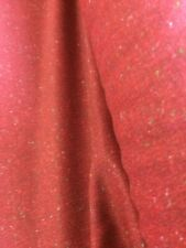 "BURGANDY WOOL MIX FLECKS CURTAIN/ UPHOLSTERY CRAFTS ETC 55""(140) WIDE FABRIC"