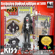 """KISS 12"""" Action Figure """"The Demon"""" Hotter Than Hell Deluxe Blood Edition Simmons"""