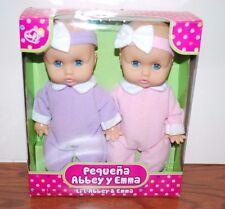 NEW PEQUENA ABBEY Y EMMA TWIN BABY BLUE EYES DOLLS DOLL SET GIRLS TOYS