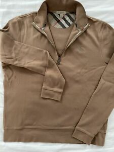 Burberry Brit XL BROWN NOVA CHECK Mens 1/4 Zip Sweater Burberry Flaw