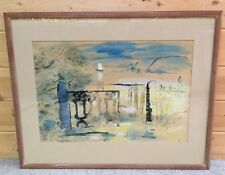 Edwin Avery Park Vintage 1941 Listed Artist Watercolor