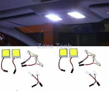 Zone Tech 4x Vehicle White COB Car 9 Watt LED Interior Dome Lights Bulb