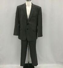 DANIEL HECHTER Grey 2 Piece Formal Trouser Suit Blazer Wool Blend 44R 38R 164087