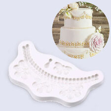 Pearl Strings Silicone Fondant Mold Cake Lace Decorating Chocolate Baking Mould