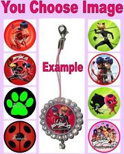 MIRACULOUS Mobile Cell Phone Strap Keyring Keychain Charm Tales Ladybug Cat Noir