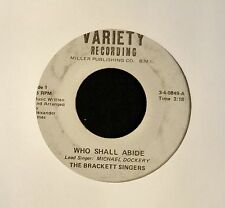 HEAR MP3 BLACK GOSPEL SOUL Brackett Singers Variety 0849 Who Shall Abide