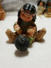 """Friends of the Feather Vintage 2000 """"Baby's First Mocs"""" figurine"""