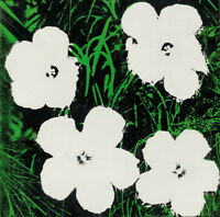 Andy Warhol Flowers White Giclee Art Paper Print Paintings Poster Reproduction