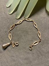 """Sarah Coventry Marked Bracelet - D Vintage 7"""" Goldtone Oblong Chain Linked"""