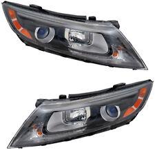 Headlights Headlight Assembly w/Bulb NEW Pair Set for 14-15 Kia Optima USA Built