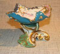 PL9-15) Porzellan Schale Schlange Jugendstil Motiv ungemarkt handgemalt H:12cm