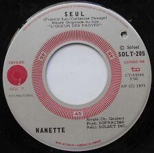 FRANCIS LAI Seul CANADA 1973 OST BOF (L'odeur des fauves) MEGA RARE 45 NANETTE
