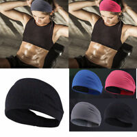Unisex Men Women Stretch Sweat Headband Sport Yoga Exercise Sweatband Head Band