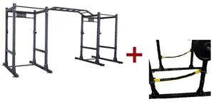 Body-Solid SPR1000SSDB Double Power Rack Package w/Power Rack Strap Safeties (Ne
