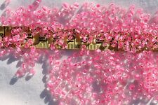 Close Out !! 6/0 seed beads Crystal Pink Lined 4mm /1oz