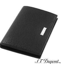 S.T.  Dupont BLACK LEATHER  Wallet BILLFOLD MEMO  74200