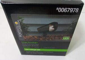 Portfolio Landscape - 12W Large Flood Light - Black Finish -Low Voltage LED